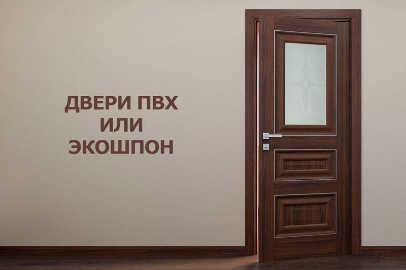 Какие двери выбрать? ПВХ или экошпон?