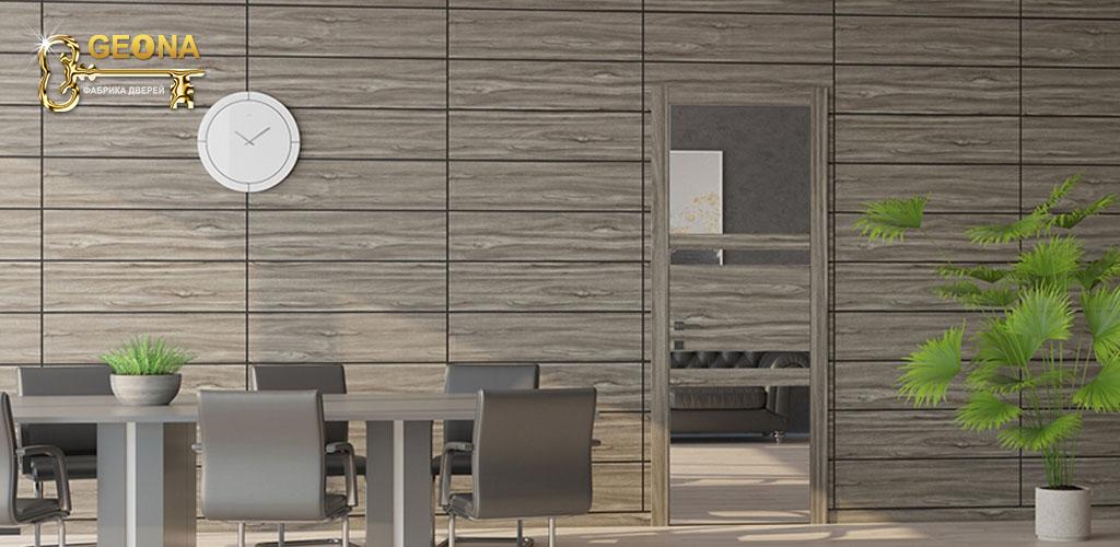 Стеновые интерьерные панели с дверью скрытого монтажа