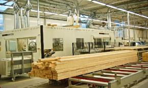Участок обработки бруса дерева
