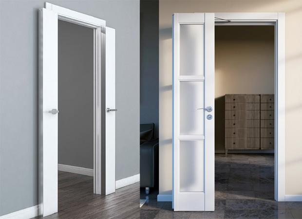Варианты установки дверей с механизмом Твайс